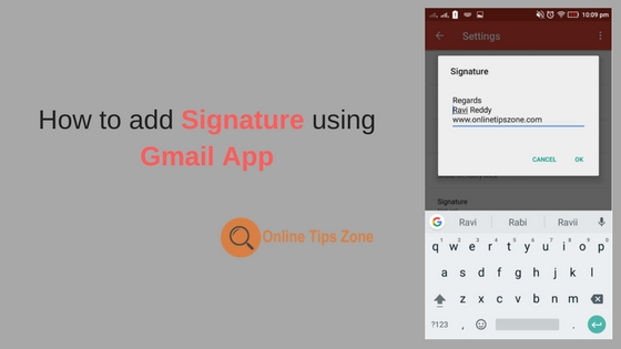 How to add Signature in Gmail App