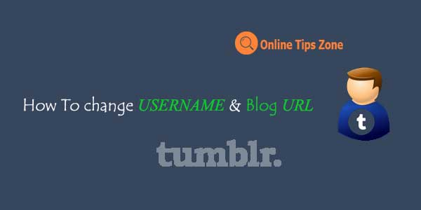 how to change tumblr username