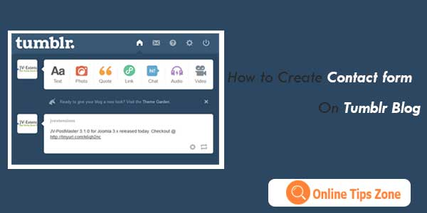 How to add Contact Form to Tumblr Blog