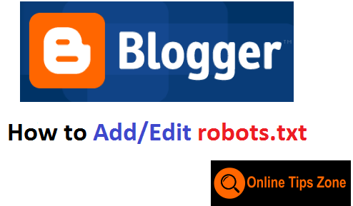 How to add custom robots txt in blogger