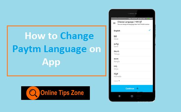 change paytm language