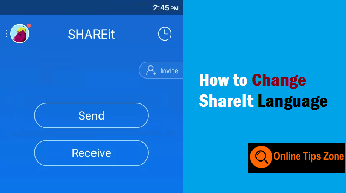 How to Change ShareIt Language