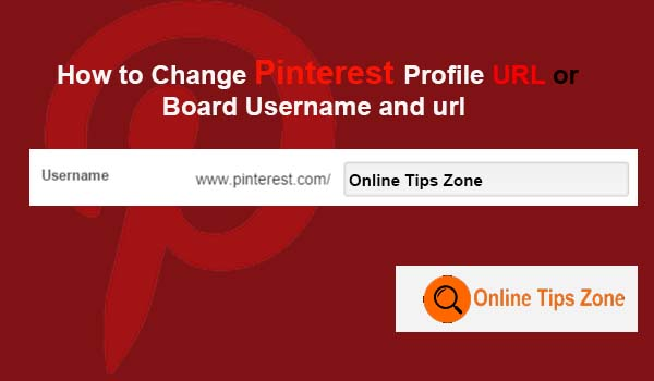 change Pinterest Username