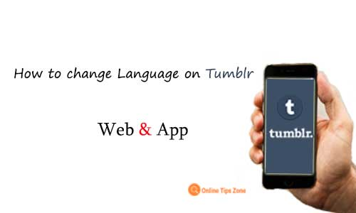 How to Change Tumblr Language