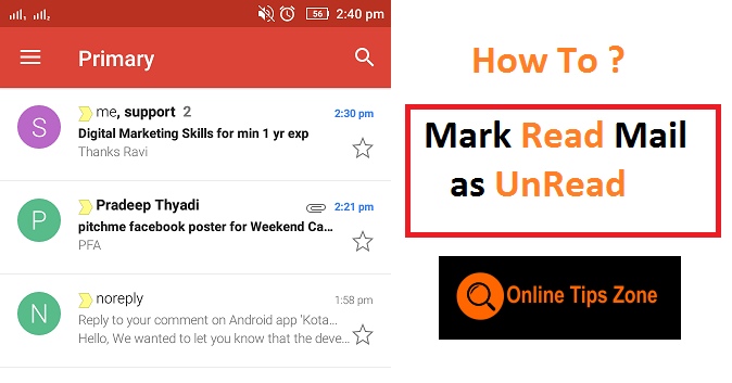 How to mark all Emails as Read on Gmail App