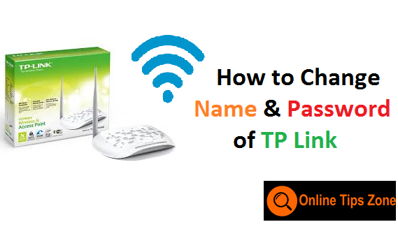 change tp link router name and password