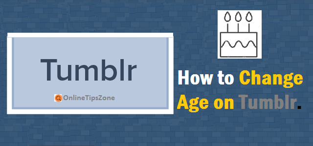 How to Change Age on Tumblr