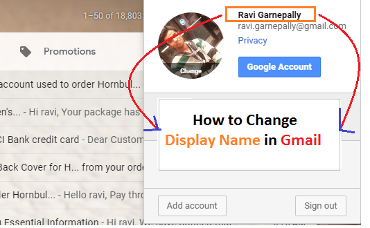 How to change username in Gmail
