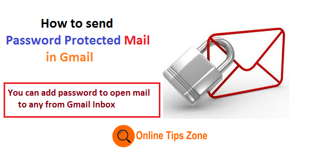 How to send password protected Email Gmail