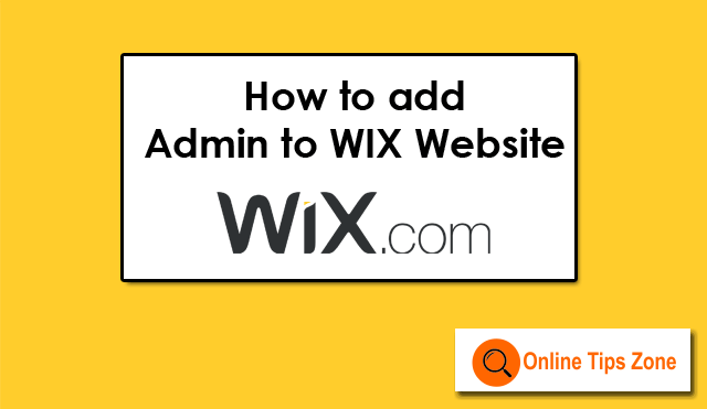How to add Admin to Wix Site