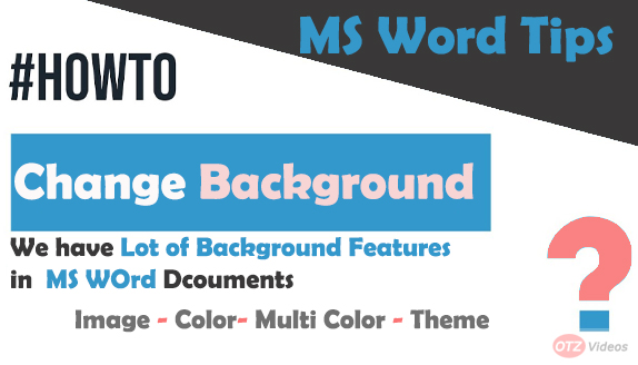 How to change Word Background