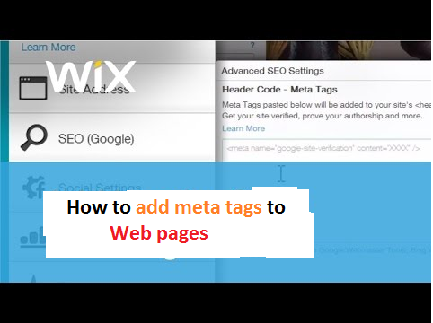 How to add Meta Tags in Wix Site