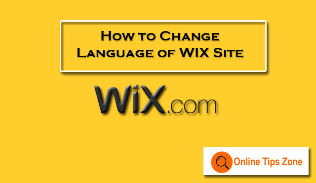 How to Change WIX Website Language