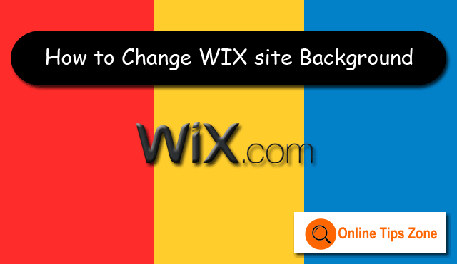 How to change WIX Website Background