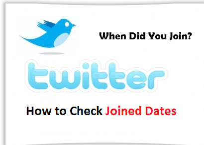 How to check Twitter account created date