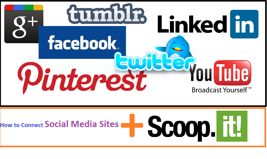 connect scoopit with social media sites