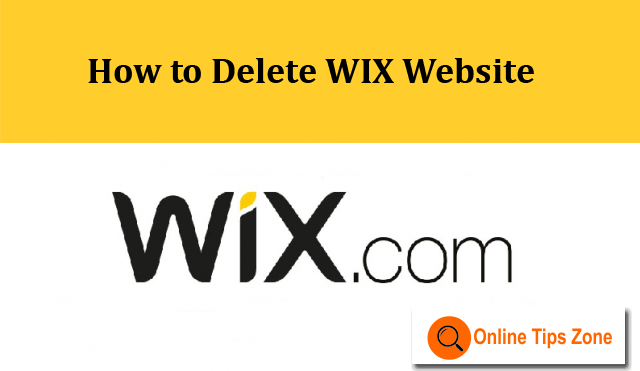 How to Delete WIX Site