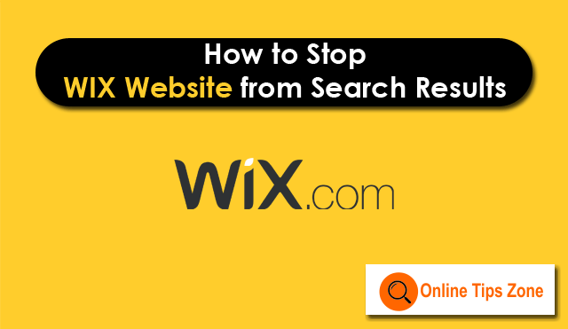 How to stop WIX site from Search Engines