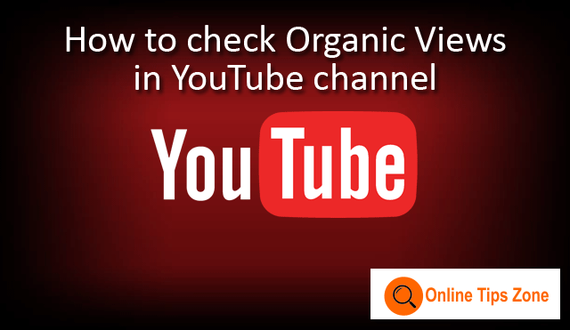 How to check Organic Views in YouTube